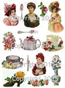 Victorian Tea Time Collage Sheet