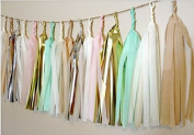 24 X Design Tissue Paper Tassels for Party Wedding Gold Garland Bunting Pom Pom