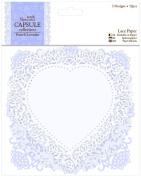 Papermania French Lavender Die-Cut Lace Paper 14cm 12/Pkg-