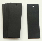 "GANSSIA Rectangle Shape Black Hang Tag for Garment with Free Cut Strings Pack of 100 Pcs 1.06""*3.07"" Inch"