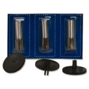 Replacement Punch Set, 3 Heads/3 Discs, 0.7cm , BK, Sold as 1 Set
