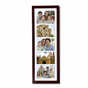 Joveco 5 Divided Openings Decorative Wood Wall Hanging Picture Photo Frame