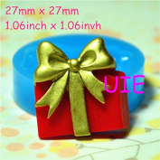 018LBP Gift Box Flexible Silicone Push Mould Mini Resin Mould Kitsch Jewellery Charms