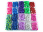 10,000 Piece Loom Band Refill Kit - Mega Refill Pack - 10 Colours - 10000 Rainbow Coloured Bands