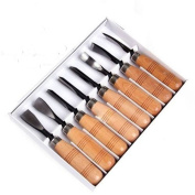 Seven Piece Set Wood Carving Hand Chisel Tool Carving Tools Woodworking Professional Gouges New.