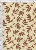 """Free Spirit Nel Whatmore """"Sleeping Beauty"""" Tossed Leaf Brown Fabric"""