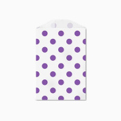 25 Purple Polka Dot Little Bitty Bags 7cm X 10cm