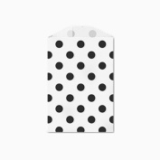 25 Black Polka Dot Little Bitty Bags 7cm X 10cm