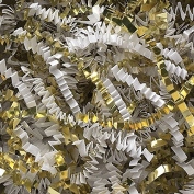 0.9kg Crinkle Cut Paper Shred - Metallic Gold and White