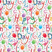 Entertaining With Caspari Gift Wrapping Paper, Happy Birthday, 2-sheet