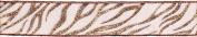 3.8cm Glitter Zebra Ribbon - Copper - 2 Yards