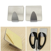 2pcs Stainless Steel Stick Wall Holder Bathroom Towel Clothes Hanger