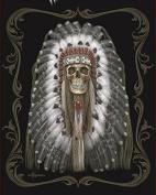 DGA Native Skull Signature Collection Super Soft Queen Size Plush Blanket - Original American