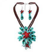 Dazzling Calla Lilies Turquoise Statement Jewellery Set
