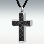 Perfect Memorials Carapacho Cross Stainless Steel Cremation Jewellery