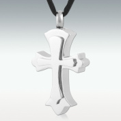Perfect Memorials Rising Cross Stainless Steel Cremation Jewellery