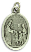 Lot of 5 - Holy Spirit / Confirmation 2.5cm Medals Silver Oxidised Made in Italy