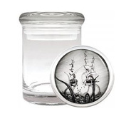 Gigantic Octopus Kraken D10 Medical Glass Jar 7.6cm X 5.1cm Herb & Spices Scary Sea Monster Giant Attacking Squid