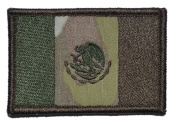 Flag of Mexico 2x3 Military Patch / Morale Patch - Multiple Colours - Multicam