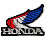 HONDA WING RACING MOTORCYCLES BIKER JACKET VINTAGE EMBROIDERED IRON ON PATCHES WITH FREE GIFT
