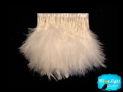 Feather Fringe 1 Yard Ivory Turkey Feather Fringe Trim