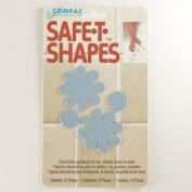 Safe-T-Shapes Daisy Nonslip Bath Tub Safety Appliques - Blue