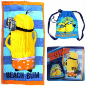 Despicable Me Minions Blue Convertible Backpack Beach Towel