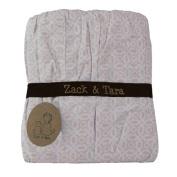 Zack & Tara Crib Skirt - Tranquil Trellis in Pink