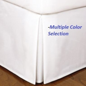 Multiple Sizes & Colours - 1500 Series - Super Soft Wrinkle Resistant 100% Brushed Microfiber 95gsm - Bed Skirt-Queen-White