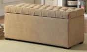 Ave Six SAH3917-S34 Sahara Tufted Storage Bench in Fabric, Shultz Nugget