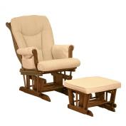 Athena AFG Sleigh Glider Chair, Espresso