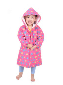 Fuchsia Square Toddlers Hooded Raincoat, 2-4 Yrs