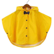 Toddler Rain Day Outerwear Baby Rain Jacket Infant Raincoat YELLOWBowknot S 2-3Y