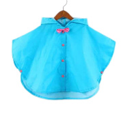 Toddler Rain Day Outerwear Baby Rain Jacket Infant Raincoat BLUE Bowknot S 2-3Y