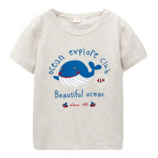 grey Infant Pure Cotton Tee Baby Toddler T-Shirt 110 CM