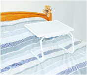MP Essentials White Sturdy Portable Reading, Laptop & Eating Support Bed Tray Table