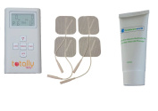 Digital Tens Machine by Totally TENS Dual Channel With 65ml Tens Gel- Natural Pain Relief