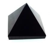 Black Agate Gemstone Pyramid