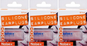 Noise X Silicone Ear Plugs 3 Pairs x 3 Packs