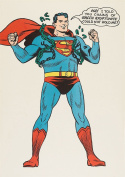 Superman Chains Of Kryptonite Comic Drawing A4 Poster Print Picture 280GSM Satin Photo Paper