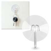 Clear Strong Adhesion Lasting Durable 40mm Diameter Suction Cup with Metal Hook for Window Decoration Hanging