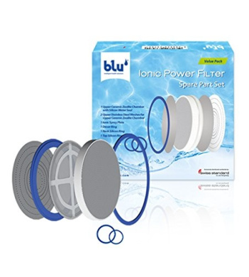 blu Ionic Power Filter Spare Part Set, Replacement Filter Unit for the blu Ionic Power Filter, incl. Ionic Spray Plate and Sealing Rings