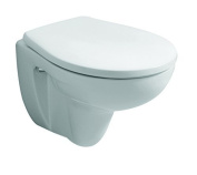 Toilet Seat Keramag Renova No. 1 Comprimo Stainless Steel Hinges Alpine White, 571044000