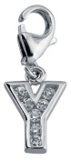 Minott Charms Letter Y with Zirconia 925 / Silver CMM105-Y