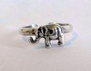 Sterling Silver 925 Adjustable Elephant Toe Ring
