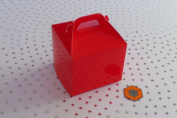 30 x Single RED cupcake boxes cake boxes 80x80x80mm inc inserts/holder