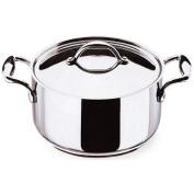 Lagostina Accademia 146031224 Stewing Pot with Lid Diameter 24 cm Stainless Steel