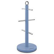 Accents 6 Mug Stainless Steel Mug Tree Holder, Cornflower Blue