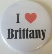 I Love (Heart) Brittany 59mm Magnetic Bottle Opener