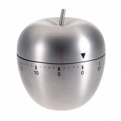 KINGSO Stainless Steel 60-Minute Countdown Kitchen Cooking Mechanical Alarm Timer Clock Apple Shape